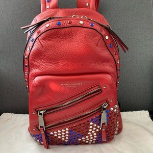 Marc Jacobs pyt backpack brilliant red